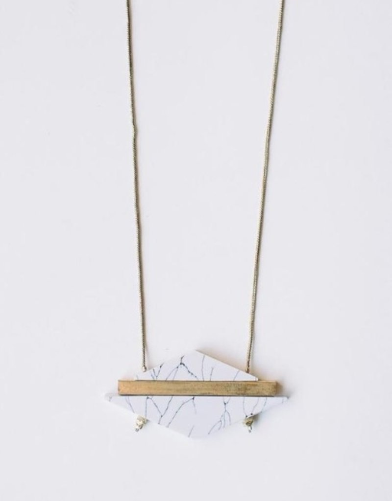 Mata Traders Modern Marble Necklace