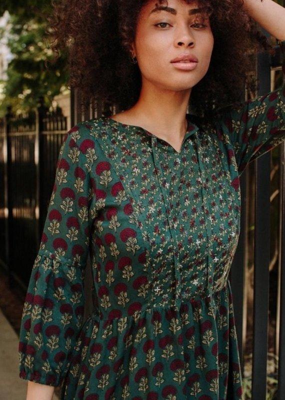 Mata Traders Pondi Teal Dress