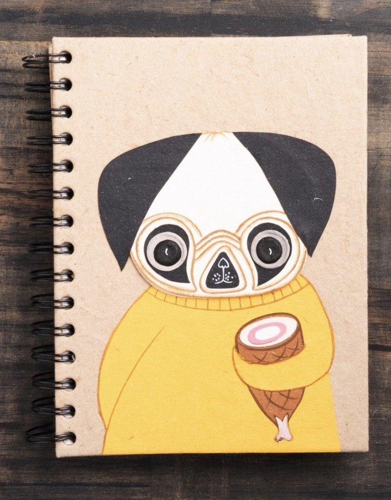 Mr. Ellie Pooh Pugsley the Pug Notebook
