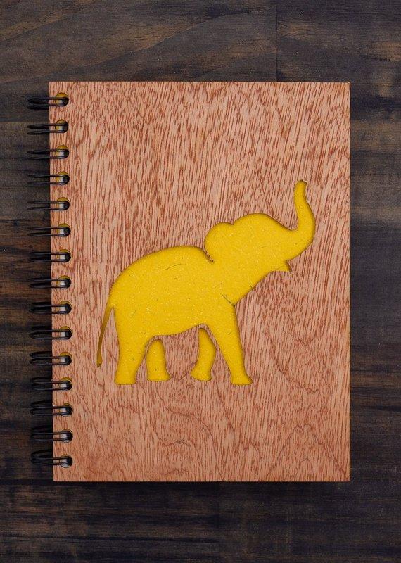 Mr. Ellie Pooh Elephant Song Wood Notebook