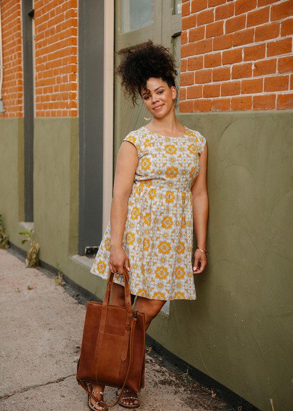 Mata Traders Chilmark Yellow Tile Dress