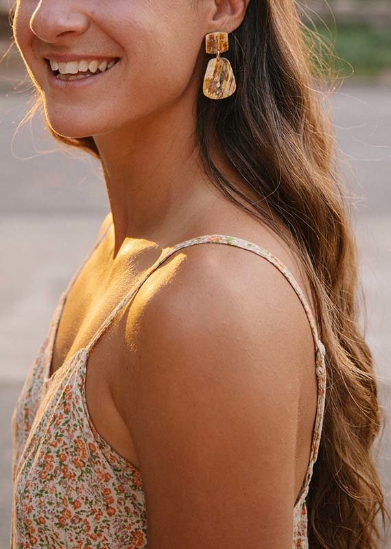 Atelier Calla Paris Rough Horn Earrings