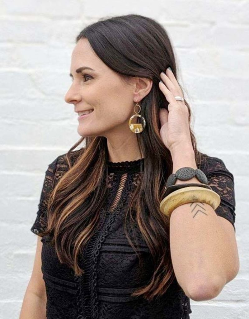 Efa Mustard Earrings