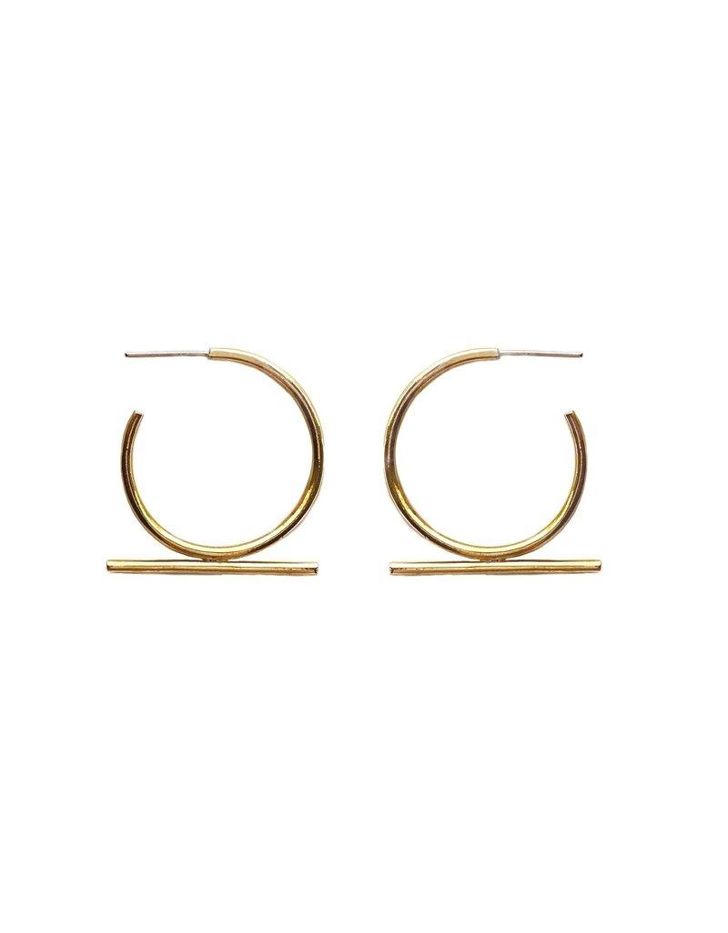 Moxie Brass Earrings