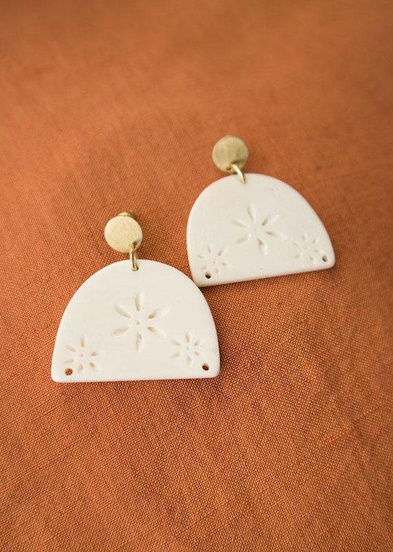 Etched Bone Earrings