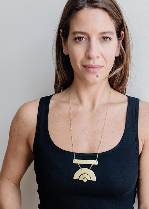 Mata Traders Sunray Brass Necklace