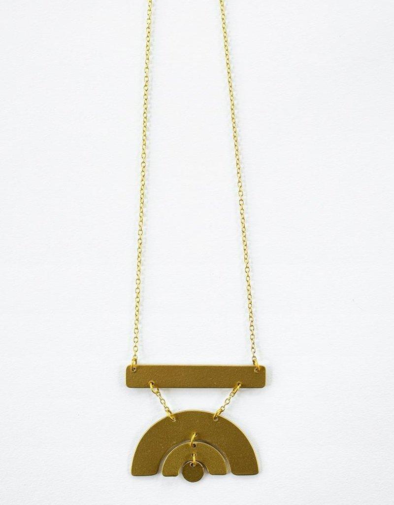 Sunray Brass Necklace