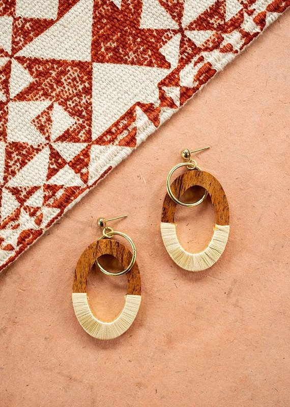 Mata Traders Berkeley Wood Earrings