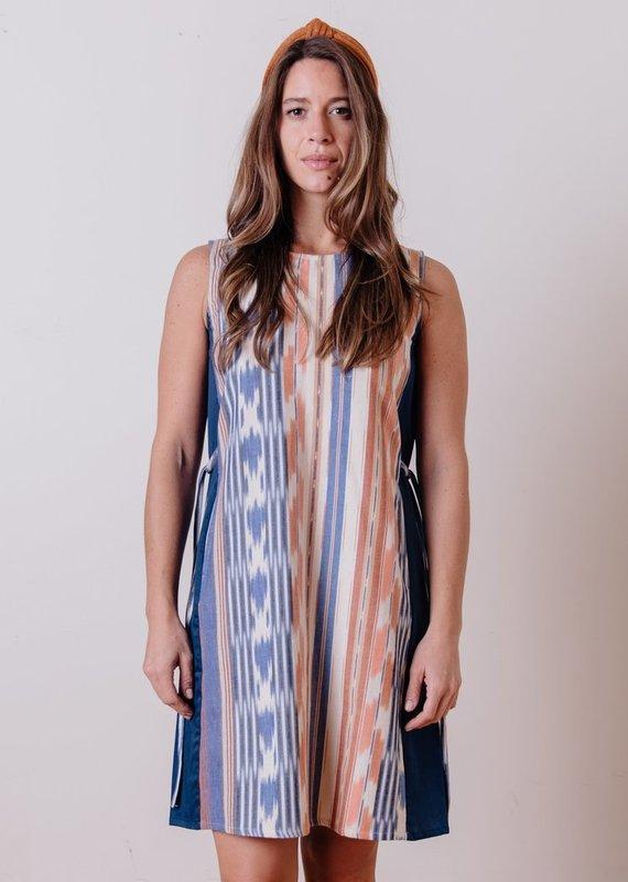 Mata Traders Dakota Rainbow Ikat Dress