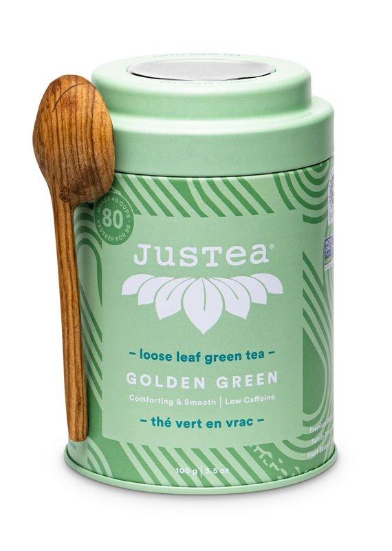 JusTea Golden Green Loose Leaf Tea