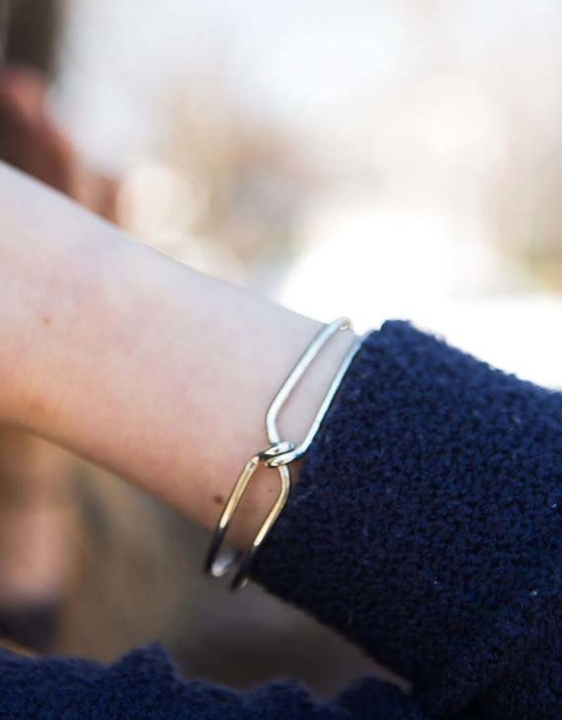 Knotted Cuff Silver