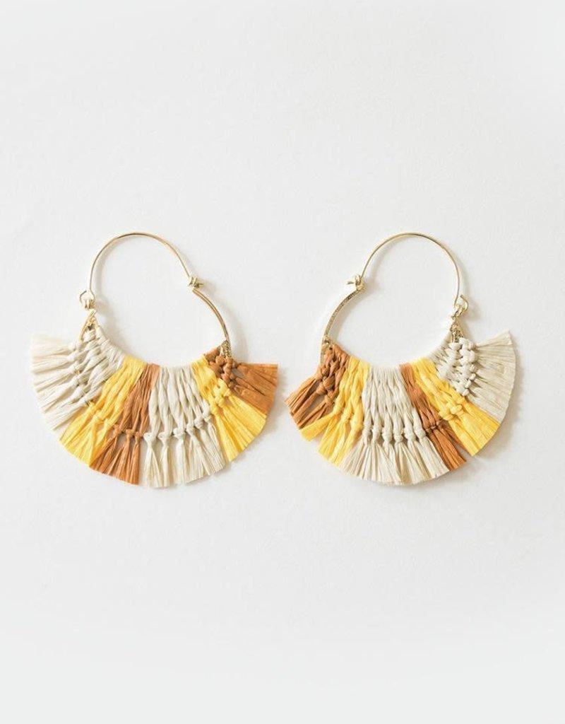 Caramel Hoop Earrings
