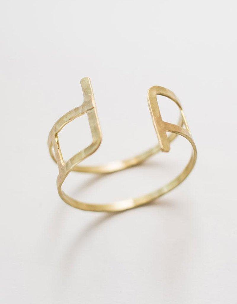 Hammered Couplet Bracelet