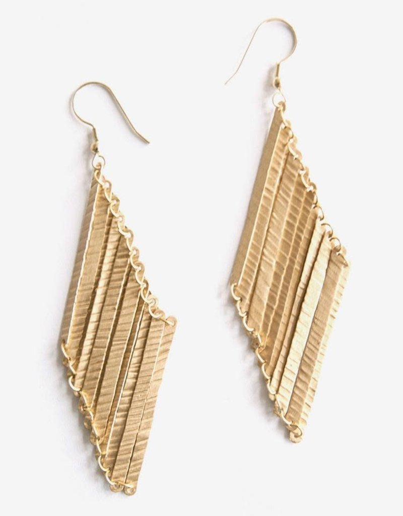 Mata Traders Layered Lines Earrings