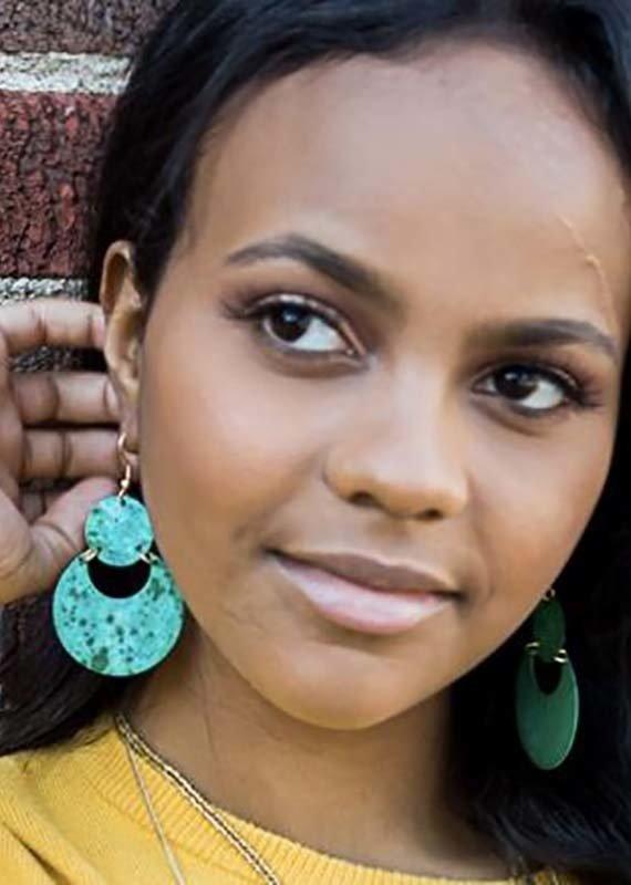Fair Anita Cloudy Waters Painted Earrings