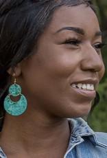 Cloudy Waters Painted Earrings