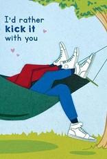 Kick It Love Greeting Card