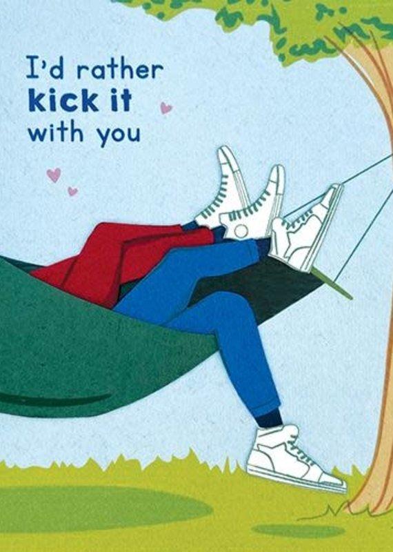 Good Paper Kick It Love Greeting Card