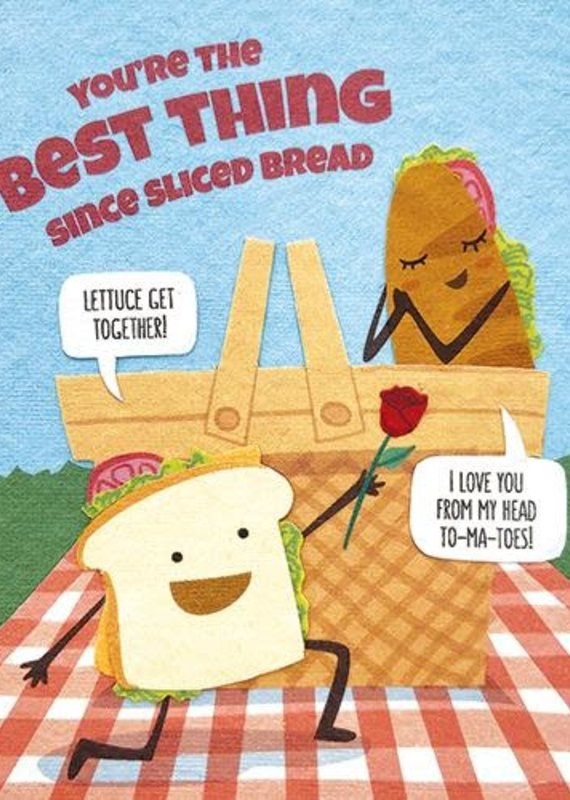 Good Paper Sliced Bread Love Greeting Card