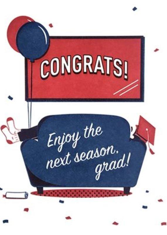 Good Paper Next Season Grad Greeting Card