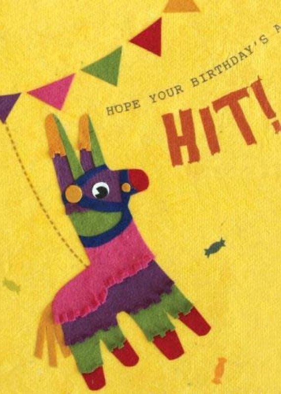 Good Paper Pinata Birthday Greeting Card