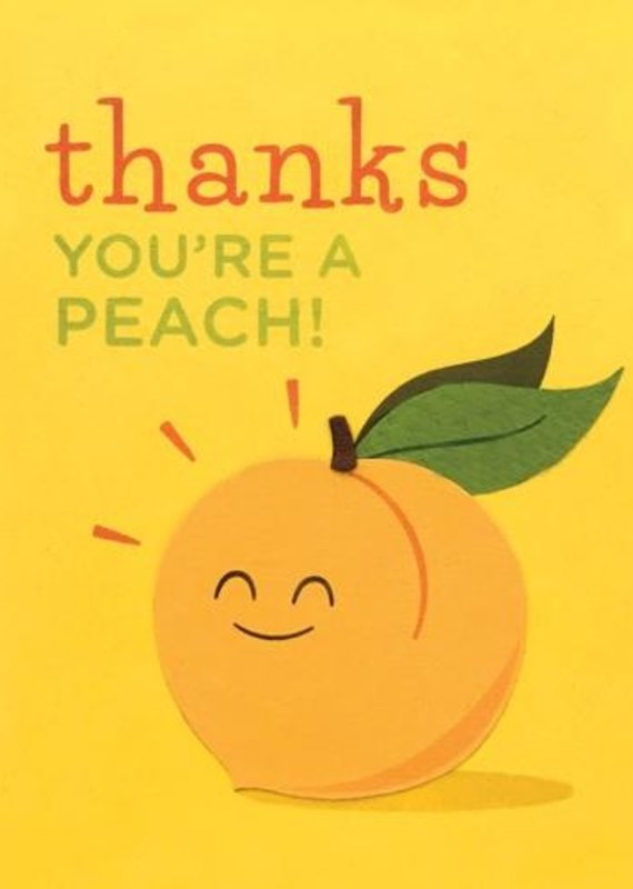 Good Paper Thanks You're A Peach Greeting Card
