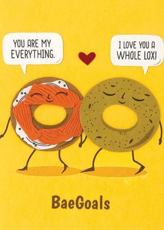 Good Paper Everything Bagel Love Greeting Card