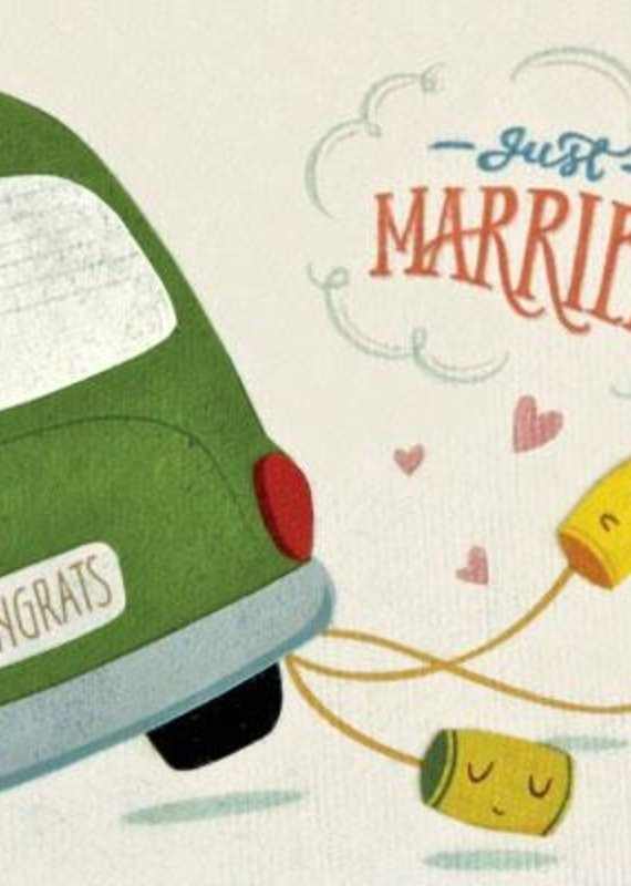 Wedding Cans Greeting Card