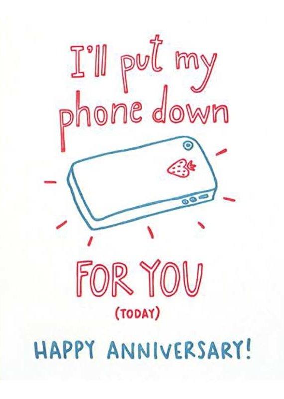 Good Paper Phone Anniversary Greeting Card
