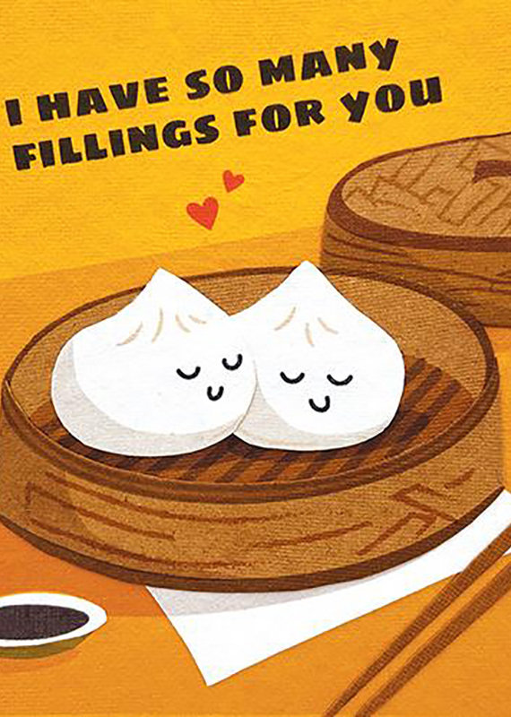So Many Fillings Greeting Card
