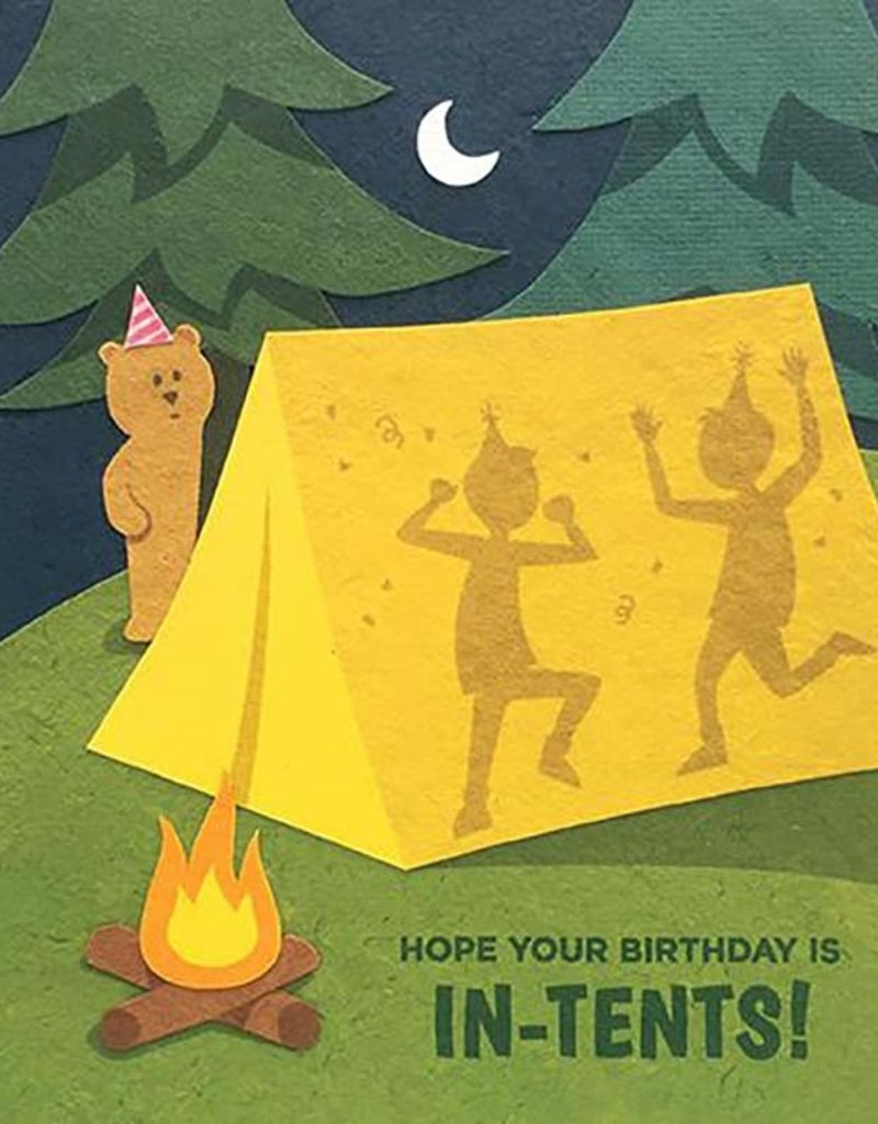In-Tents Birthday Card