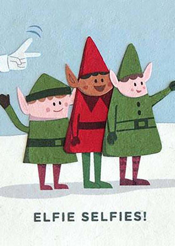 Good Paper Elfie Selfies Holiday Card