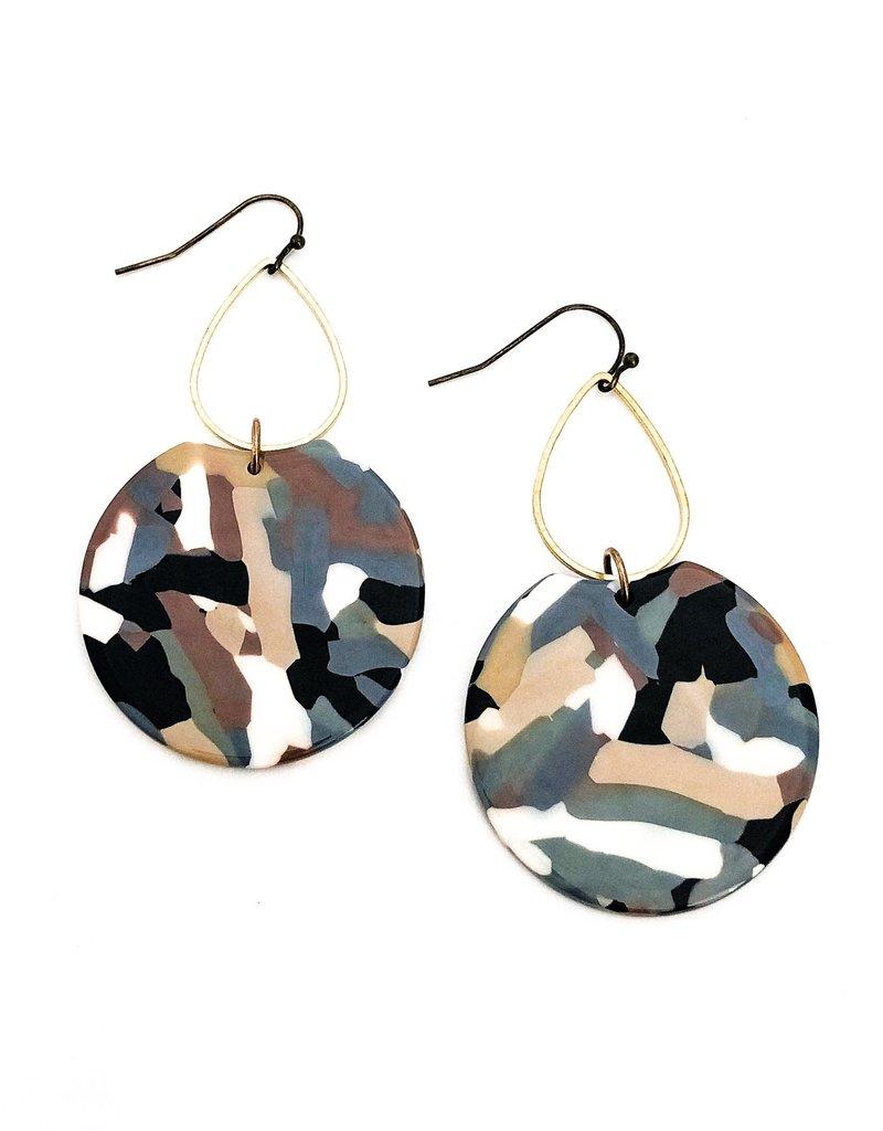 Beljoy Etch Tortoise Earrings