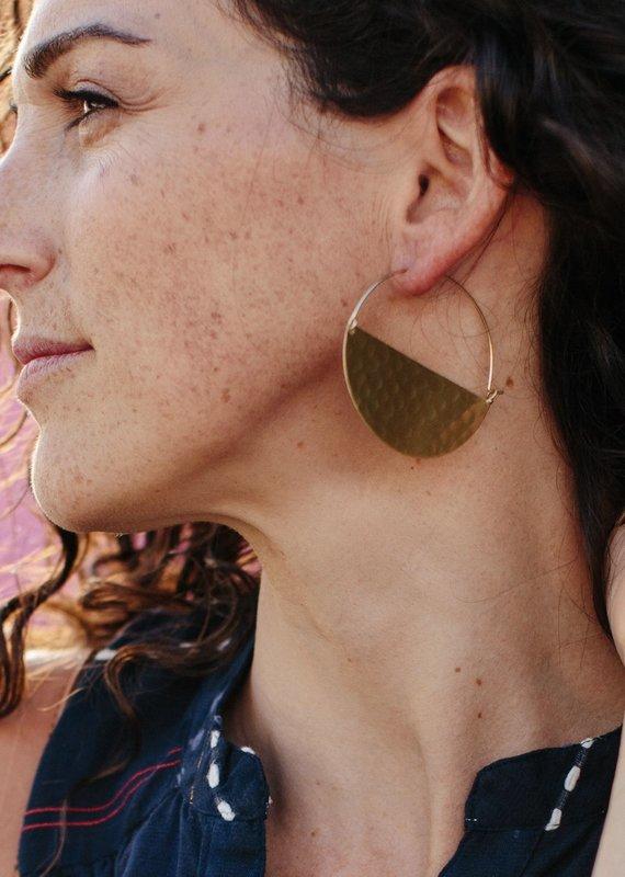 Rover & Kin Half Moon Gold Plated Earrings