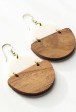 Rover & Kin Mod Wood Earrings