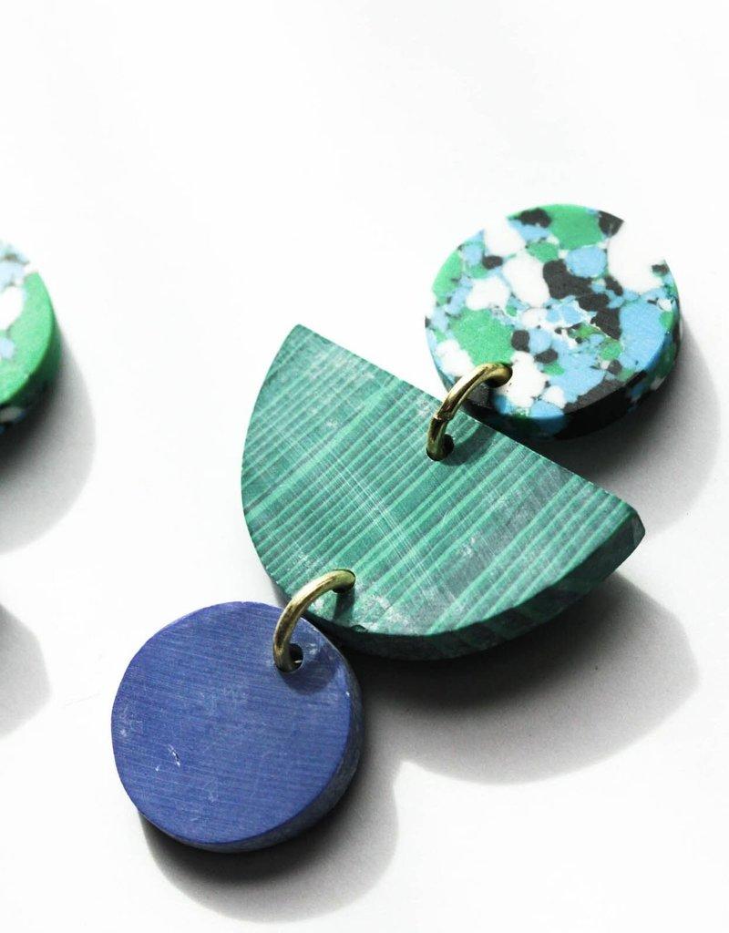 Rover & Kin Rainforest Geo Clay Earrings