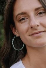 Fair Anita Threaded Hoop Earrings