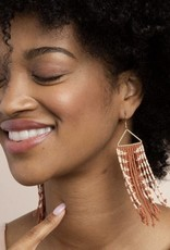 Ink & Alloy Rust Arrow Fringe Earrings