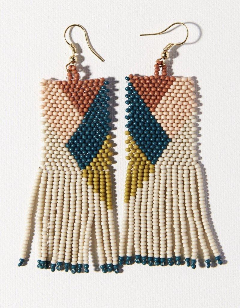 Ink & Alloy Peacock Geometric Earrings