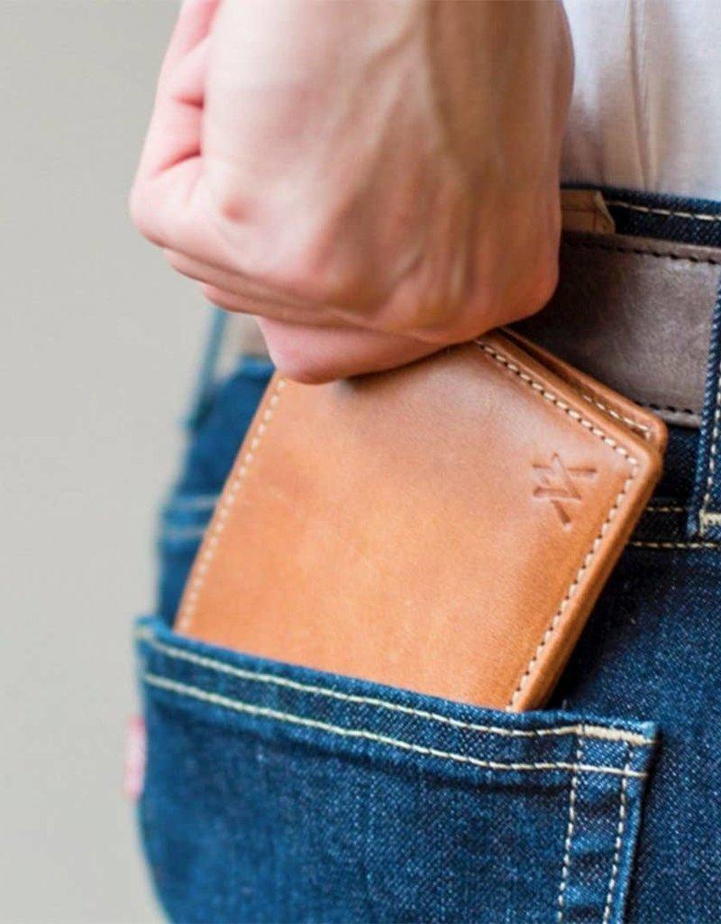 Elevate People ELV Leather Bi-Fold Wallet Camel   India