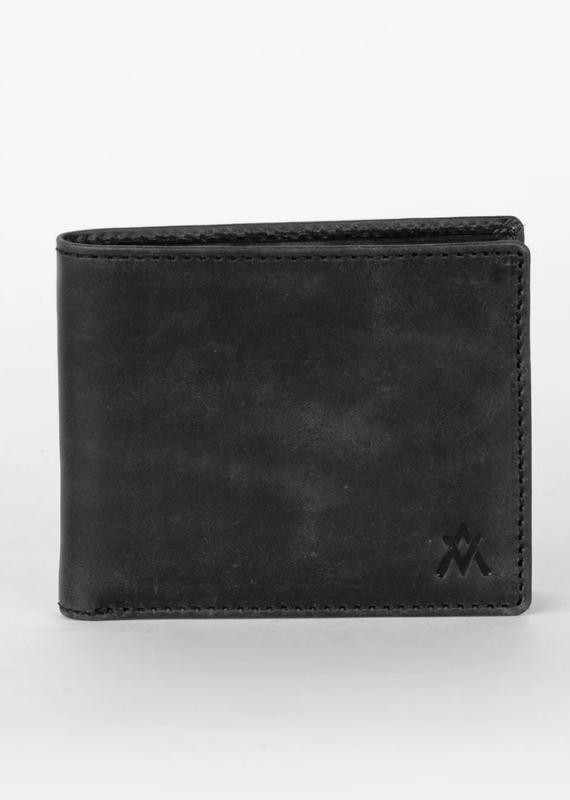 Elevate People Leather Bi-Fold Black Wallet