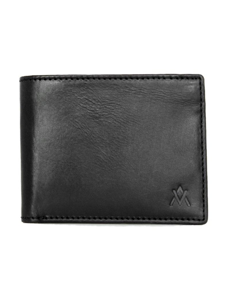 Elevate People ELV Leather Bi-Fold Wallet Black   India