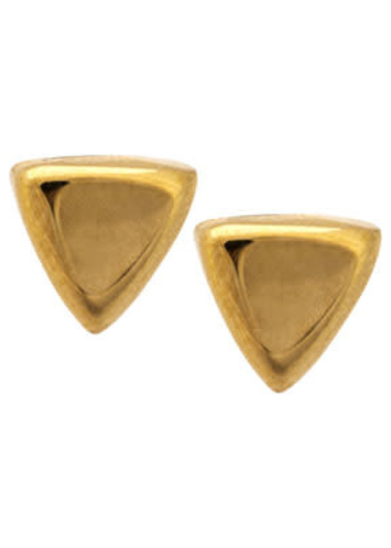 Far Fetched Gold Triangle Stud Earrings
