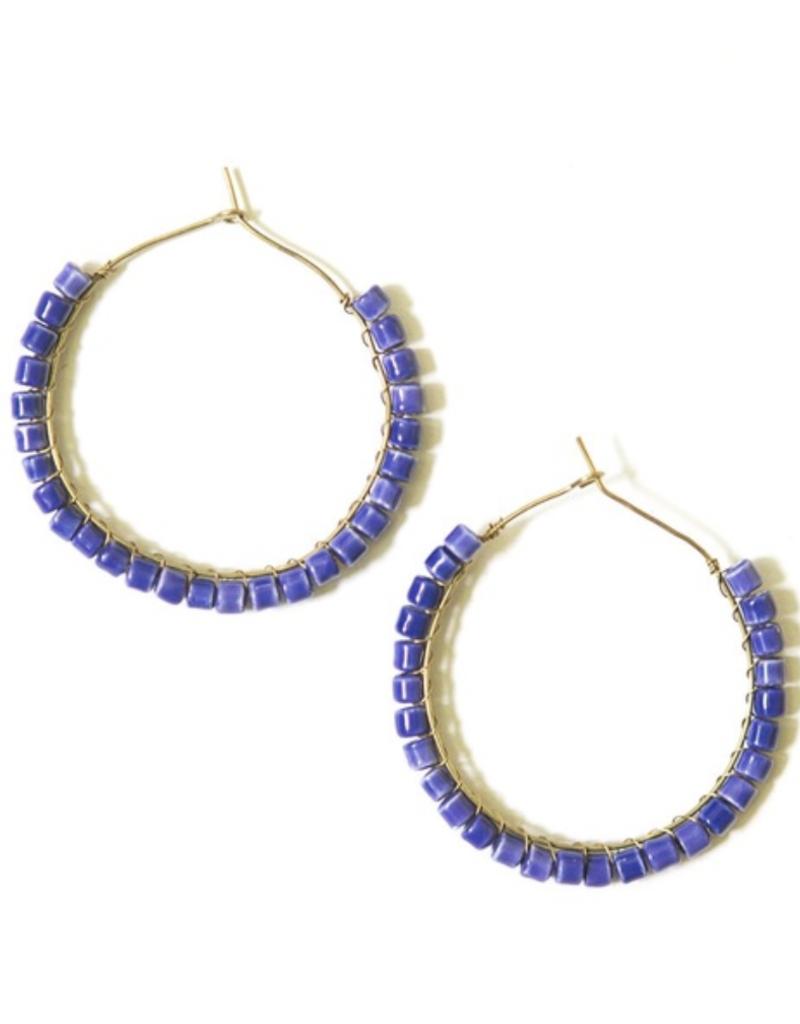 Fair Anita FAIR Iris Ceramic Hoop Earrings   India