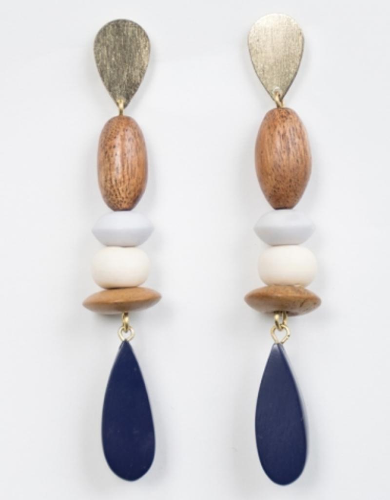 Mata Traders MT Kolkata Earrings Blue   India