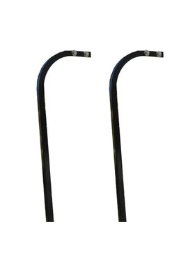 GTW Extended Top Steel Candy Cane Struts with Satin Black Finish