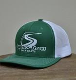 Superior Street Golf Carts | Trucker Snapback Baseball Hat - Green/White