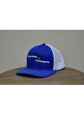 Superior Street Powersports | Trucker Snapback Baseball Hat - Blue/White