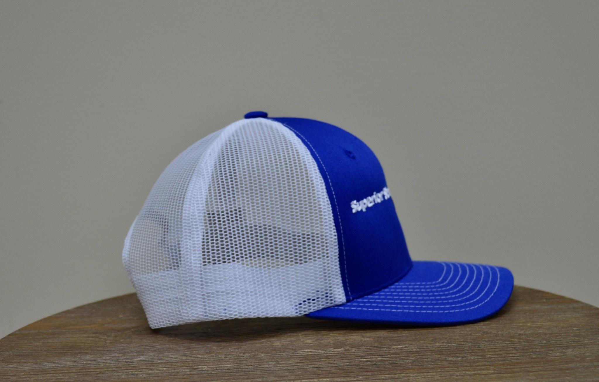 Superior Street Powersports   Trucker Snapback Baseball Hat - Blue/White