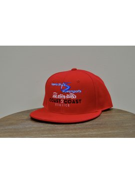 Superior Street Powersports/C2C | Flat Fitted Baseball Hat - Red
